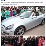 Pastor de la prosperidad recibe Mercedes Benz por su cumpleaños