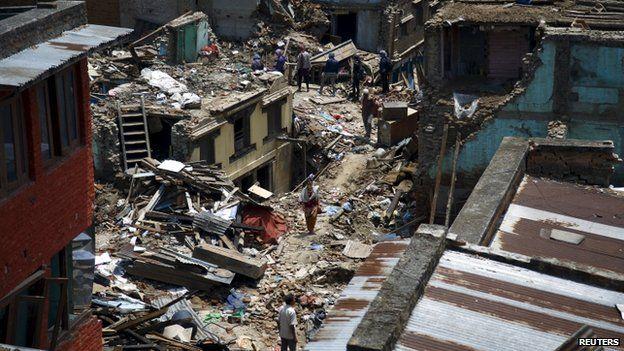 Terremoto Nepal Sankhu