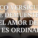 Cinco versículos que demuestran que el amor de Dios no es un amor ordinario