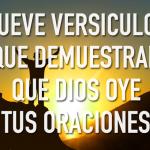 Nueve versículos bíblicos que prueban que Dios oye tus oraciones