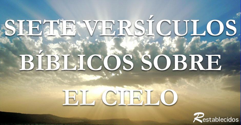 siete versos biblicos sobre el cielo