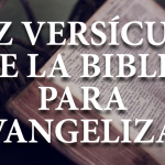 10 versículos para evangelizar