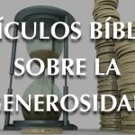 Versículos bíblicos sobre la generosidad