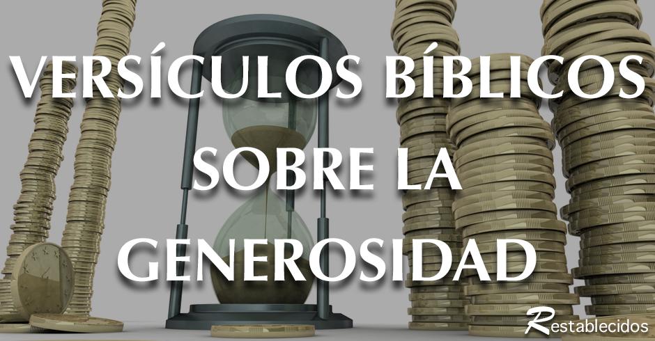Versiculos De La Biblia De Animo: Diez Versos De La Biblia Sobre La Generosidad