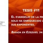 95 tesis para la iglesia evangélica de hoy – Tesis número 11