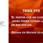 95 tesis para la iglesia evangélica de hoy – Tesis número 13