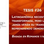 95 tesis para la iglesia evangélica de hoy – Tesis número 26