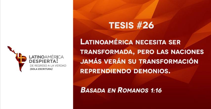 tesis 26 iglesia evangelica hoy