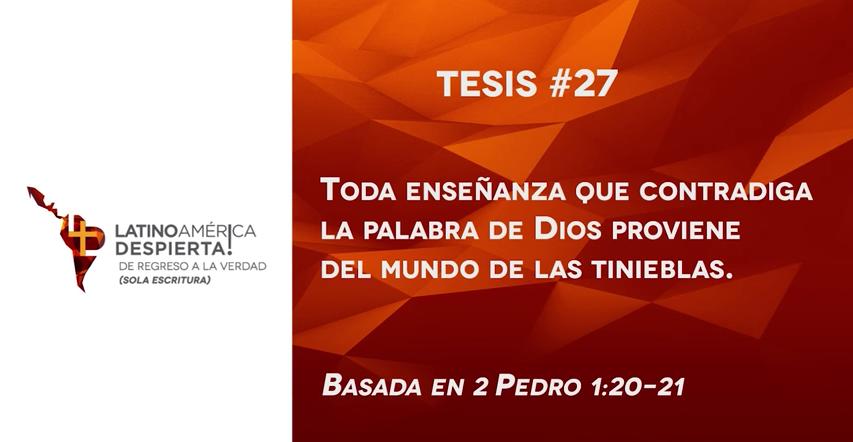 Tesis 27 para la iglesia evang lica de hoy restablecidos for De que lengua proviene la palabra jardin