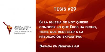 tesis 29 regresar a la predicacion expositiva