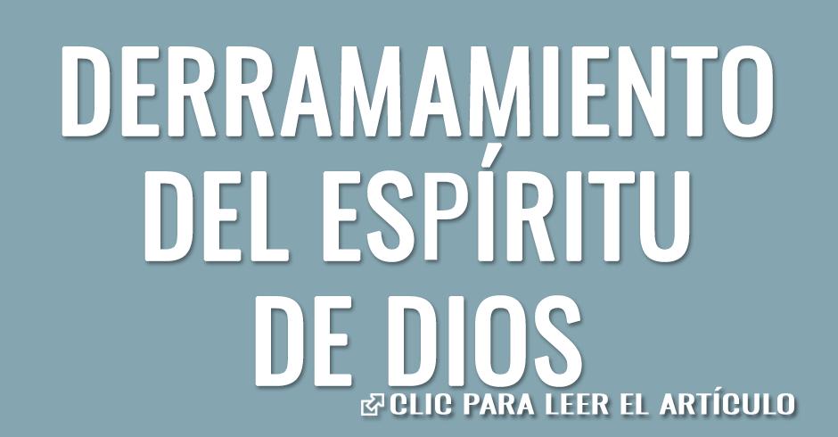 Derramamiento del Espíritu de Dios