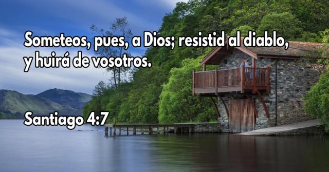 Someteos, pues, a Dios; resistid al diablo, y huirá de vosotros