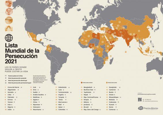 Lista mundial de persecución 2021