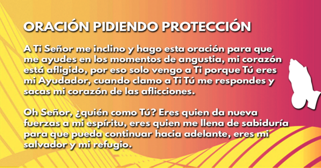 Oración pidiendo protección