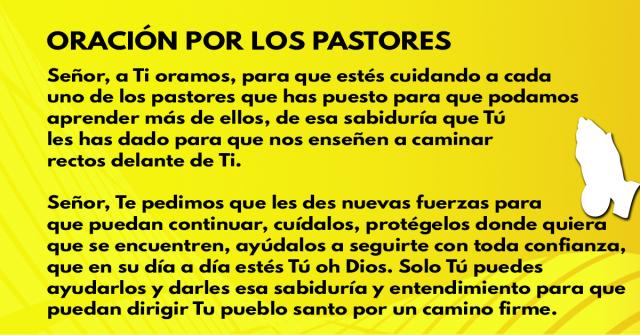 Oración por los pastores