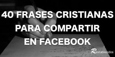 40 frases cristianas para facebook