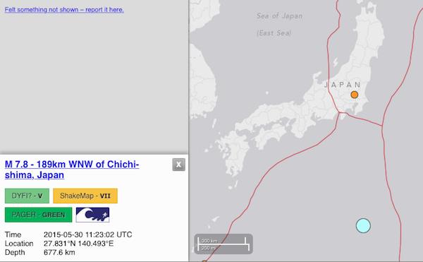Otro terremoto en Japón