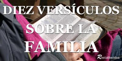 diez versiculos sobre la familia