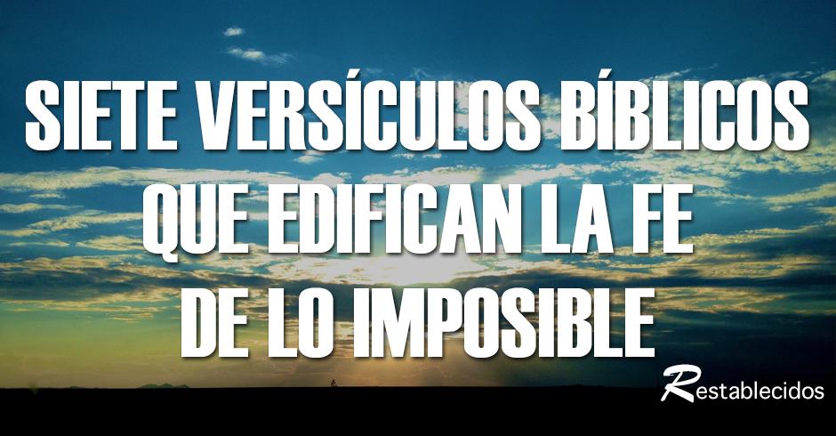 Siete versos que edifican la fe de lo imposible