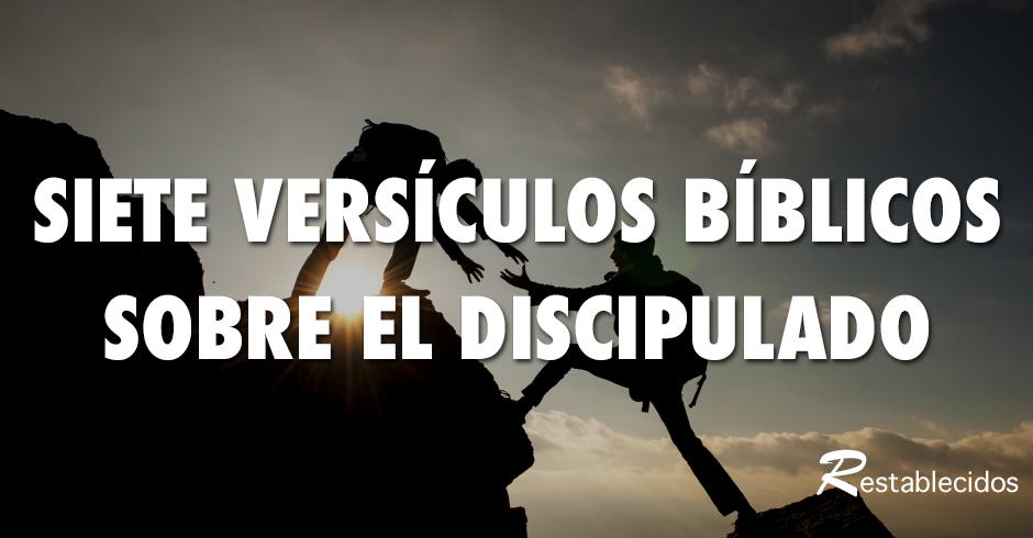 La Importancia Del Discipulado Siete Versos Bíblicos