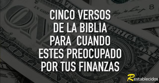 versiculos preocupado dinero