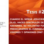 95 tesis para la iglesia evangélica de hoy – Tesis número 2