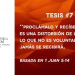 95 tesis para la iglesia evangélica de hoy – Tesis número 7