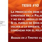 95 tesis para la iglesia evangélica de hoy – Tesis número 10