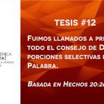 95 tesis para la iglesia evangélica de hoy – Tesis número 12