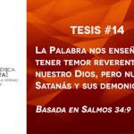 95 tesis para la iglesia evangélica de hoy – Tesis número 14