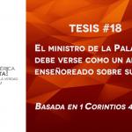 95 tesis para la iglesia evangélica de hoy – Tesis número 18