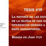 95 tesis para la iglesia evangélica de hoy – Tesis número 19
