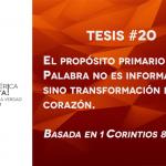 95 tesis para la iglesia evangélica de hoy – Tesis número 20