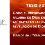 95 tesis para la iglesia evangélica de hoy – Tesis número 21