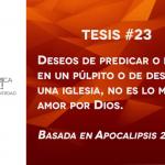 95 tesis para la iglesia evangélica de hoy – Tesis número 23