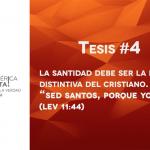 95 tesis para la iglesia evangélica de hoy – Tesis número 4