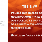 95 tesis para la iglesia evangélica de hoy – Tesis número 9