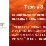 95 tesis para la iglesia evangélica de hoy – Tesis número 3