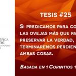 95 tesis para la iglesia evangélica de hoy – Tesis número 25