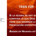 95 tesis para la iglesia evangélica de hoy – Tesis número 29