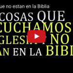 [VIDEO] 23 cosas que no estan en la Biblia