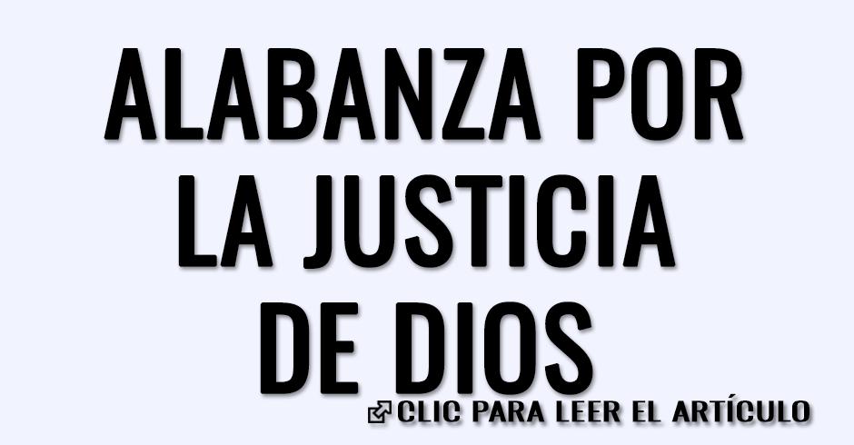Alabanza por la justicia de Dios