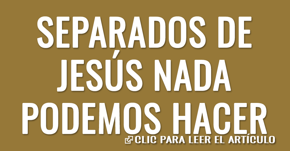 SEPARADOS DE JESUS NADA PODEMOS HACER