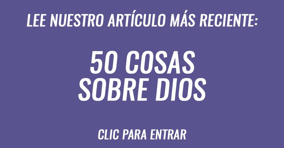 50 cosas sobre Dios