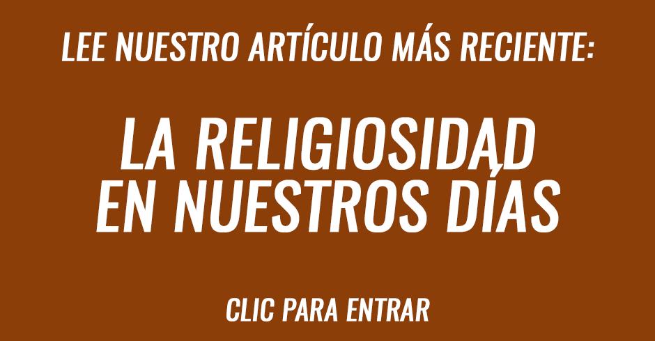 La religiosidad en nuestros días