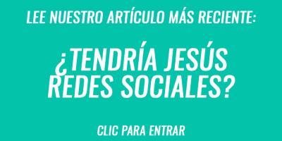 Tendría Jesús Redes Sociales