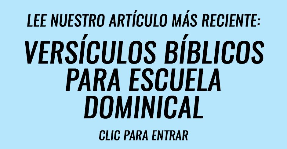 Versículos biblicos para escuela biblica