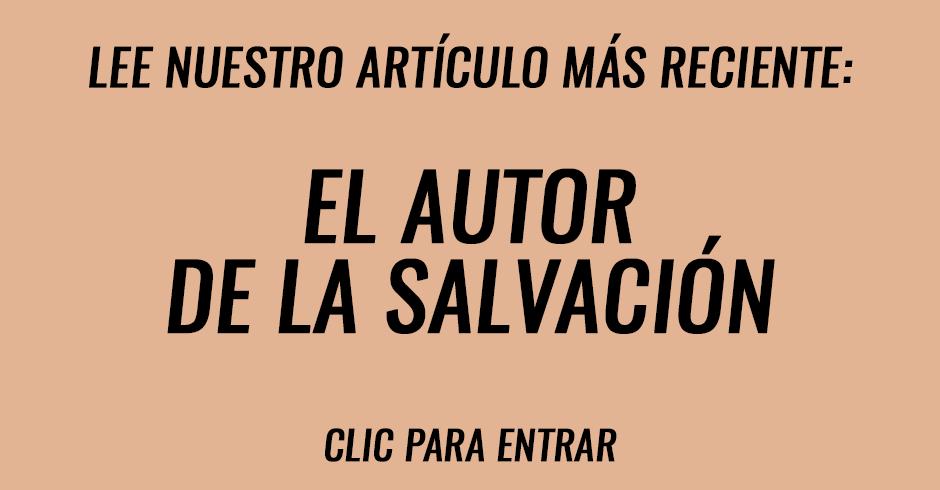 El autor de la salvación