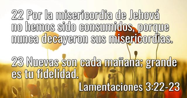 Por la misericordia de Jehová no hemos sido consumidos, porque nunca decayeron sus misericordias