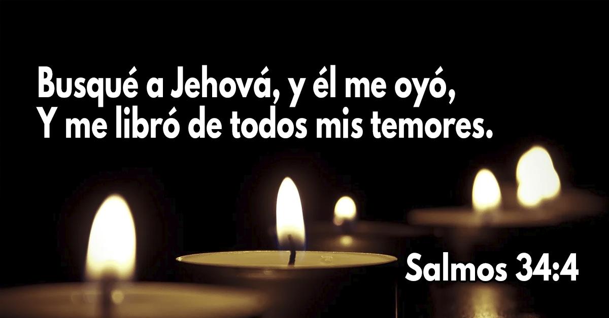 Busqué a Jehová, y él me oyó, Y me libró de todos mis temores